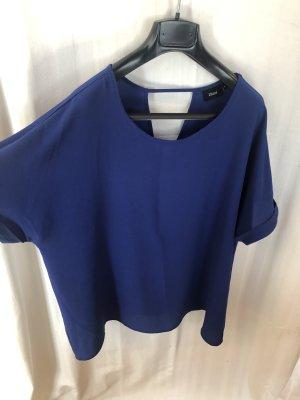 Luftig leichte Bluse royalblau mit schönen Details