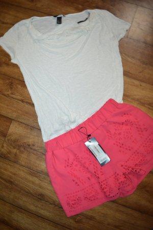 Luftig leichte Sommerhose kurz in pink Neu von Amisu mit Lochmuster 38