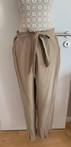 Yargici Pantalon taille basse beige coton