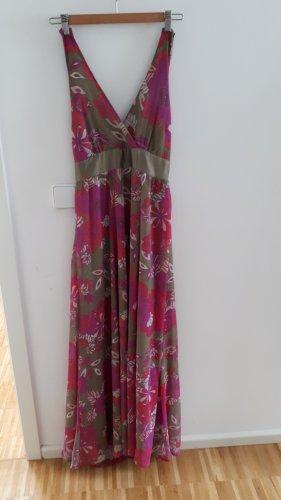 Sukienka z dekoltem typu bandeau Wielokolorowy Poliester
