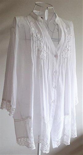 Camicetta lunga bianco sporco Cotone
