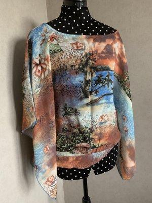 Cheer Kimono Blouse azure-orange