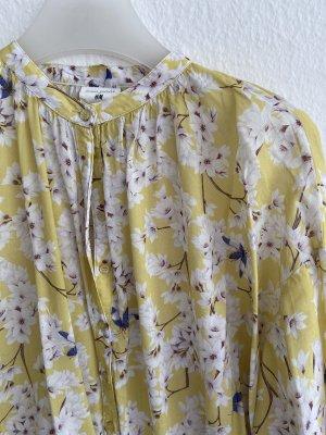 Anna Glover × H&M Bluzka z długim rękawem bladożółty-biały