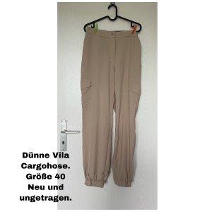 Vila Cargo Pants beige
