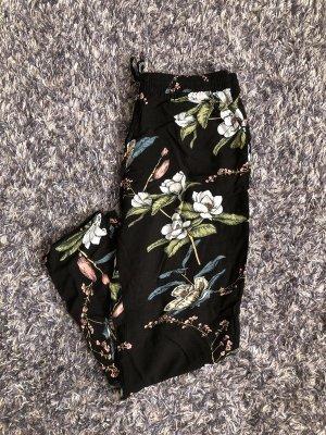 Luftige Chinohose mit Blumenmuster 42