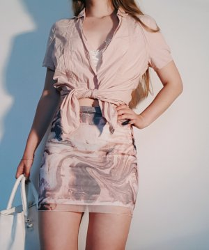 Luftige hellrosa Kurzarm-Bluse mit Knöpfen (Marc O'Polo)