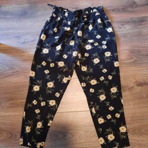 Primark Pantalone a pieghe nero-giallo