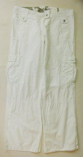 Fishbone Pantalon taille basse blanc