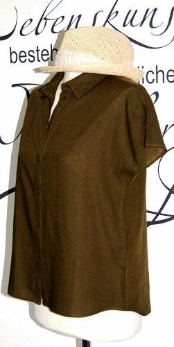 Vila Short Sleeved Blouse khaki-dark green