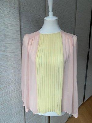 Luftige Langarmbluse von Zara mit Plissee in der Frontpartie