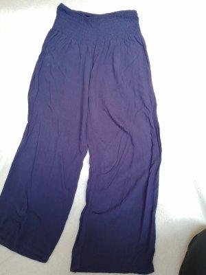 aus Italien Lniane spodnie niebieski