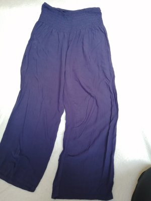 aus Italien Pantalon en lin bleu