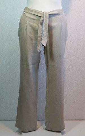 Lniane spodnie jasnobeżowy