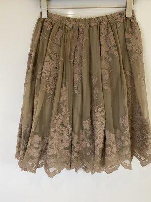 Twin set Koronkowa spódnica szaro-brązowy
