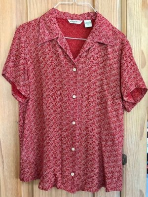 Luftige rote Bluse mit Paisley Muster