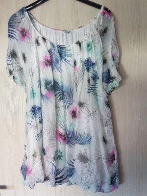 luftige Shirtbluse aus Viskose-Seide-Mix Gr. XL