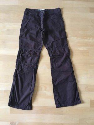 Zero Pantalone cargo marrone-marrone scuro