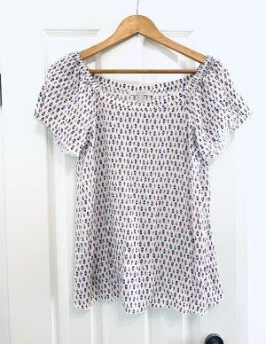 Luftige weiße Sommerbluse / Babydoll T- Shirt v Esprit Gr. 36/ S