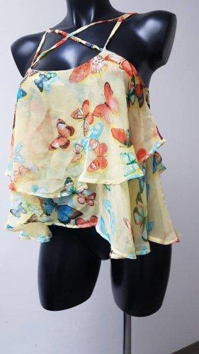 Papillonne Off-The-Shoulder Top multicolored