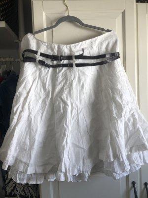 Promod Spódnica midi biały Bawełna