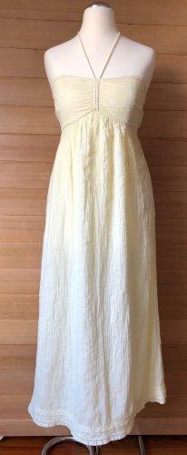 Robe bandeau jaune clair coton