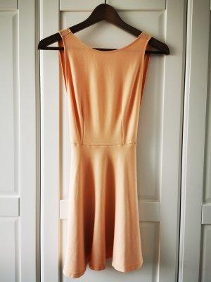American Apparel Robe péplum abricot