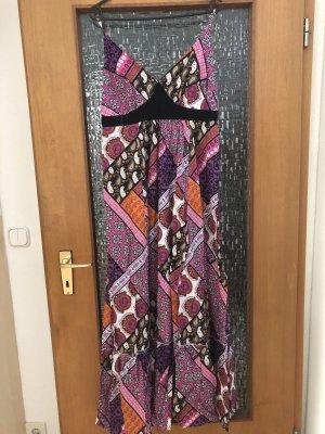 John Baner Robe Hippie multicolore coton
