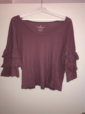 American Eagle Outfitters Cropped Shirt grey lilac