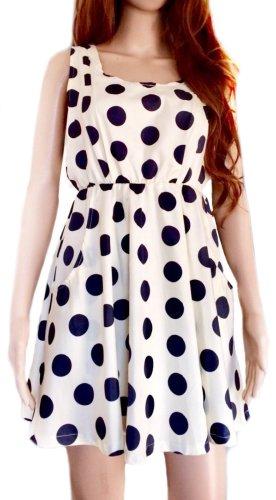 Luftiges Polka-Dot-Kleid