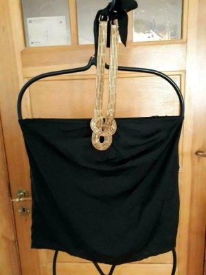 Gina Tricot Haltertop zwart-goud Polyester