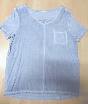 Oysho Batik Shirt azure viscose