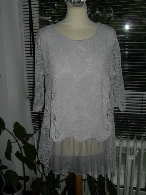 Crochet Shirt light grey