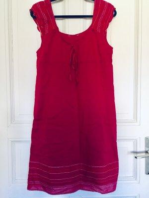 Promod Vestido babydoll rojo frambuesa