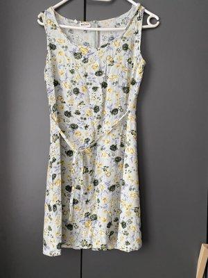 Mexx A Line Dress baby blue-pale yellow viscose
