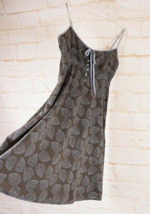 Luftiges Sommerkleid Spaghettiträger Kleid Esprit Größe S 36 Grau Braun Babydoll Smoking