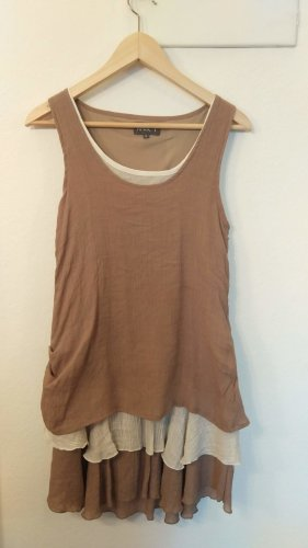 Apricot Shortsleeve Dress multicolored cotton