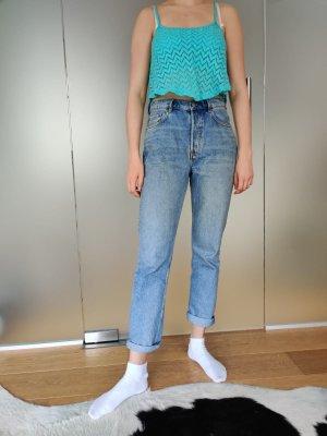 Bershka Top con bretelline azzurro