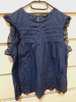 Only Kanten blouse blauw