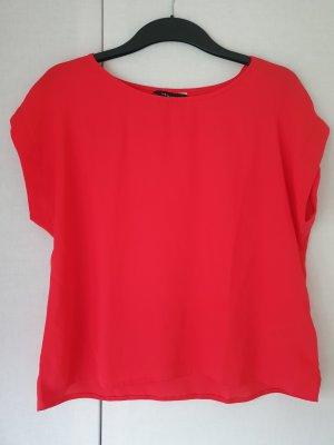 Luftiges T-Shirt in knalligem Rot