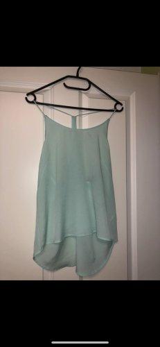H&M Blusa sin espalda turquesa