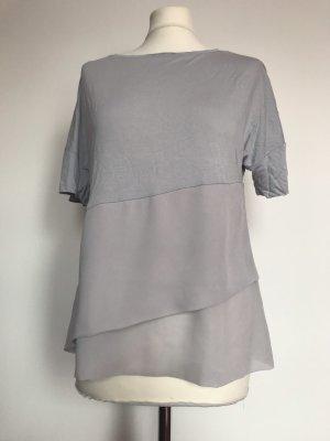 Phase eight Top con balze grigio chiaro