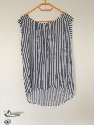 new collection Długi top biały-niebieski