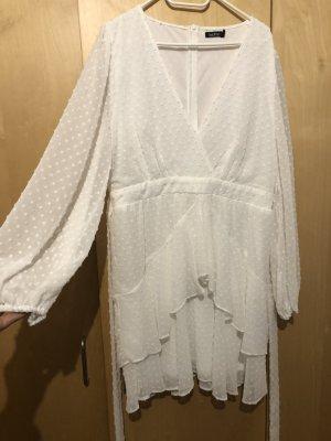Bohoo Robe chemisier blanc