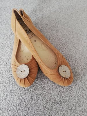 Mary Jane Ballerinas sand brown leather
