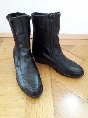 Luftpolster Halfhoge laarzen zwart Leer