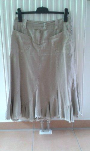 C&A Falda de lino beige claro-beige