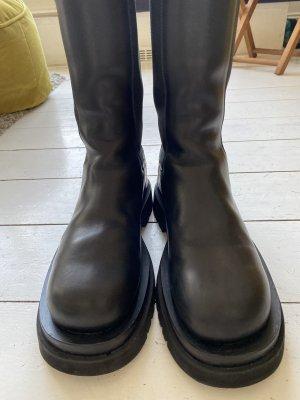 Bottega Veneta Wciągane buty za kostkę czarny