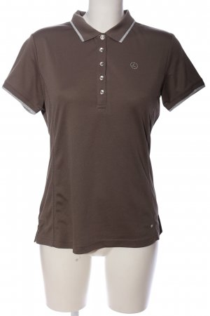 Luhta Polo-Shirt braun Casual-Look