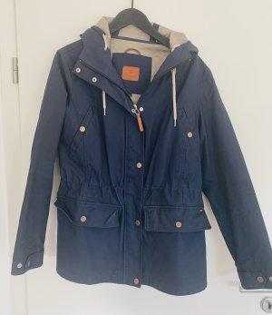 Luhta Raincoat steel blue cotton
