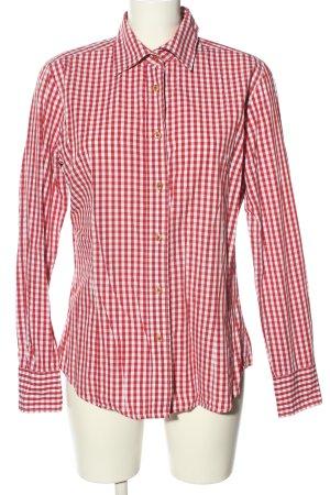 Luis Steindl Tradycyjna koszula czerwony-biały Wzór w kratkę W stylu casual